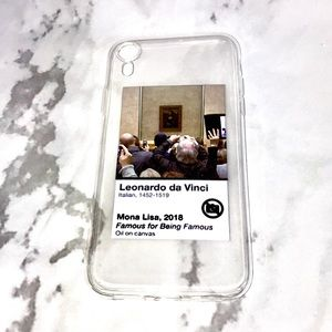 Accessories - NEW Mona Lisa iPhone case famous for being famous